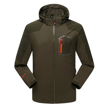2017 Calofe Winter Jacket Men Waterproof Softshell Hooded Jackets Camping Hiking Single Layer Outdoor Jackt Thermal Coats