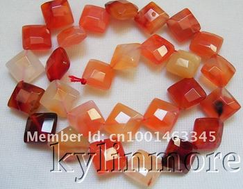 15 MM Carnelian Faceted Eşkenar Dörtgen Boncuk 15""