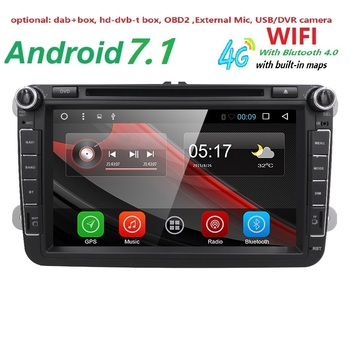 8''2din Için Android Araba DVD GPS Video Player VW/Volkswagen/POLO/PASSAT/Golf/Skoda/Octavia/Koltuk/Leon Canbus Wifi Navi BT Radyo 4G