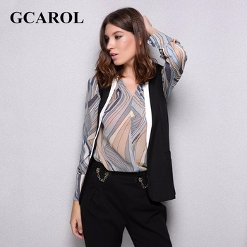 GCAROL Two-Tone Color Spliced Women Vest Sleeveless OL Waistcoat Open Stitch Design Black And White Euro Style Outwear