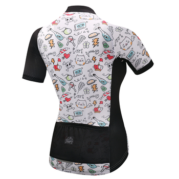 SUSHAN Felicia Frauen Sommer Polyester MTB Bisiklet Gömlek Atmungs Fahrrad Kleidung Ropa Ciclismo Madchen Radfahren Jersey