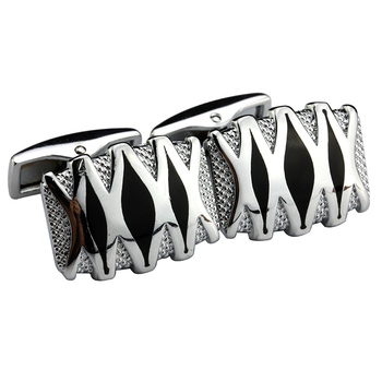 MeMolissa Fashionable stereo silver high grade X cuff-clasp, French long-sleeved shirt-sleeve shirt with Cufflinks