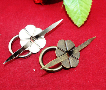 30mm Iron Flower Small drawer cabinet handles pulls decorative wooden jewelry wine box knobs