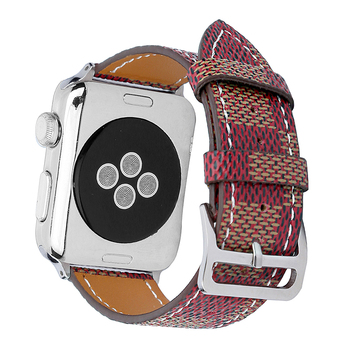 FOHUAS Hakiki Deri Döngü Için Apple Watch Band 42mm iwatch 22mm watch band kayış 38mm kadınlar bilezik Adaptör Konnektörü ile